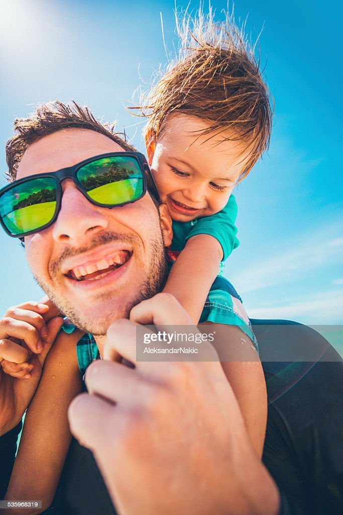 Happy by the sea : Stock Photo