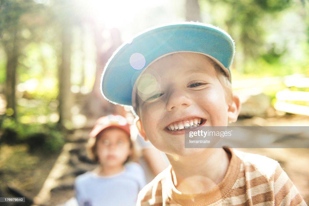 Happy Camper : Stock Photo