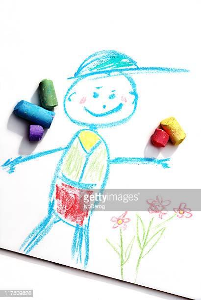 Happy chalk boy