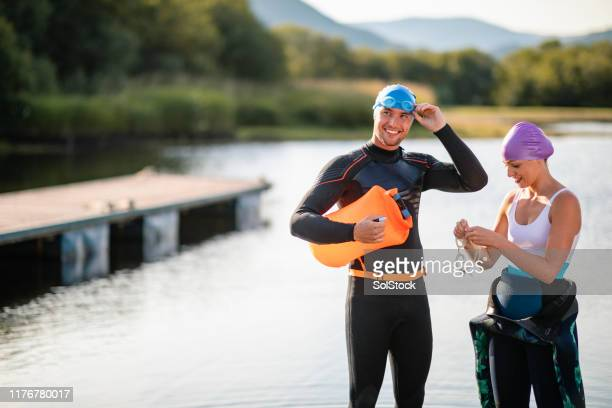 happy challenge - swimming stock pictures, royalty-free photos & images