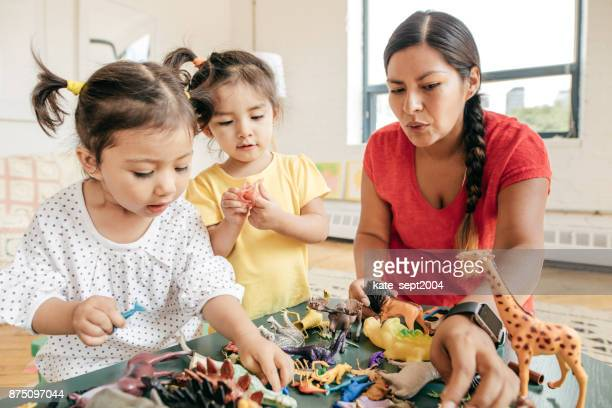 happy childhood - nanny stock photos and pictures
