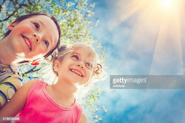 Happy children in summer