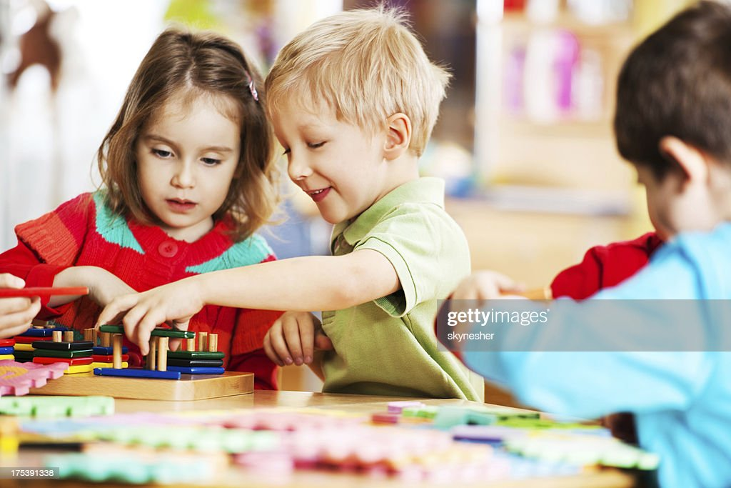 Happy children playing together. : Stock Photo