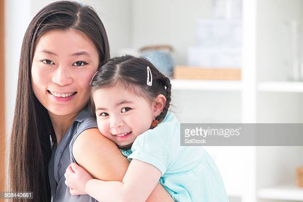 Happy Chinese Mother and Baby