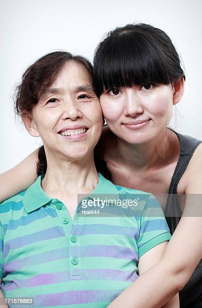 happy chinese mother and daughter - chinese mothers day stock pictures, royalty-free photos & images