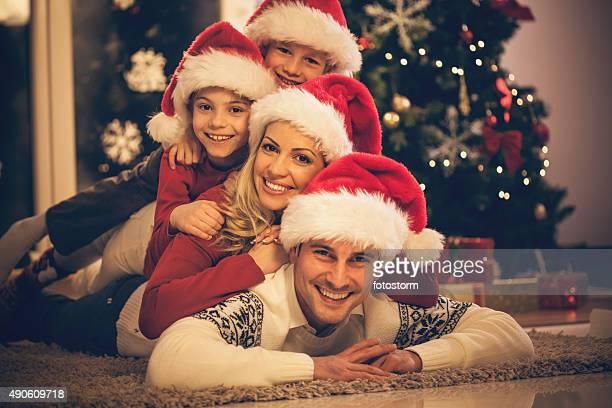 Frohe Weihnachten-Familie