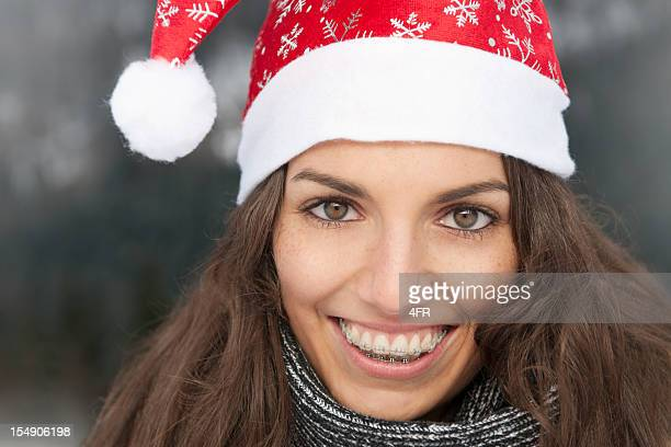 happy christmas portrait (xxxl) - santa face stock photos and pictures