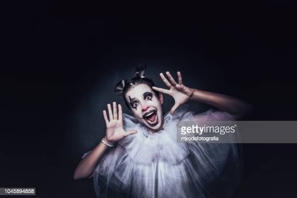 happy clown - happy clown faces stock photos and pictures