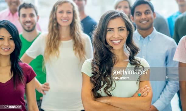 Happy community portrait