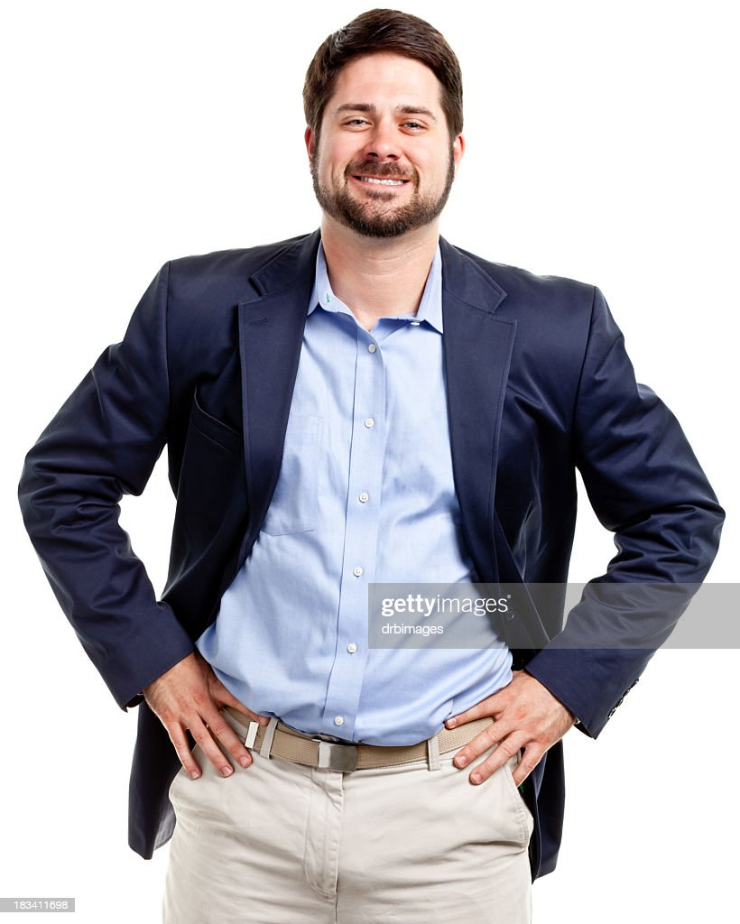 Happy Confident Casual Businessman : Stock Photo