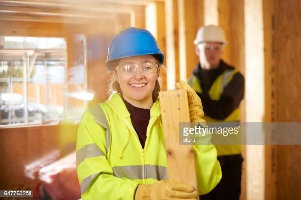 幸せな建設研修生