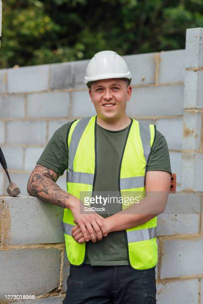 happy construction worker - smiling stock pictures, royalty-free photos & images
