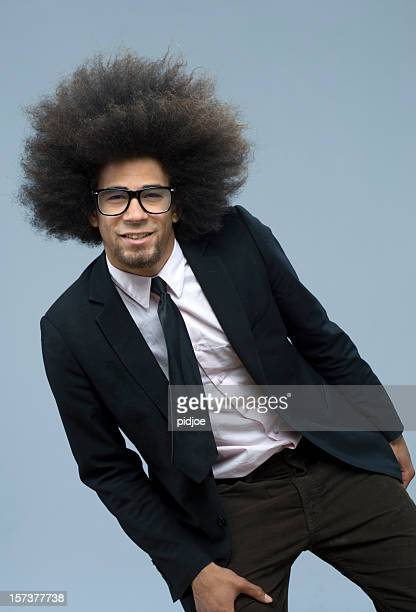 happy cool funky businessman