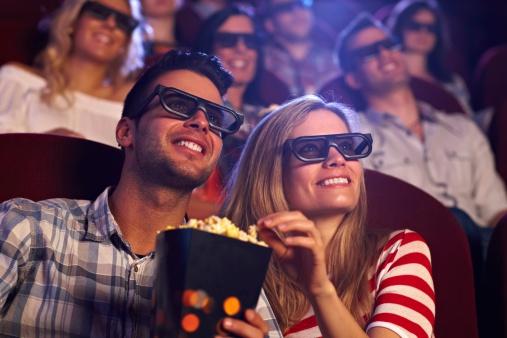 Happy couple in 3D movie 188007794