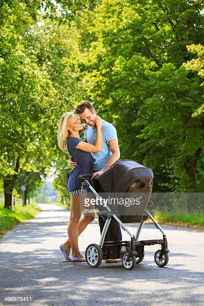 Happy couple in a park