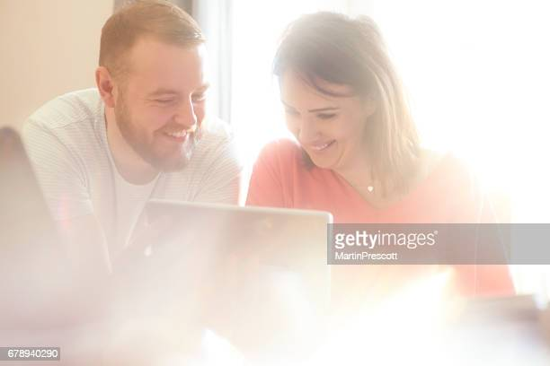 Happy couple in financial freedom