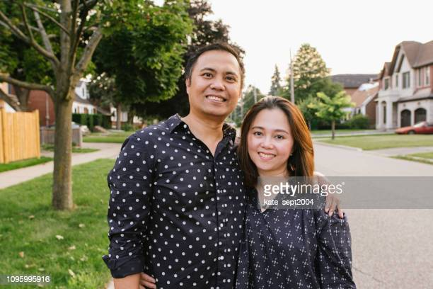 happy couple looking at camera - philippines stock pictures, royalty-free photos & images