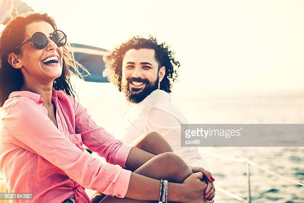 Happy couple on a vacation