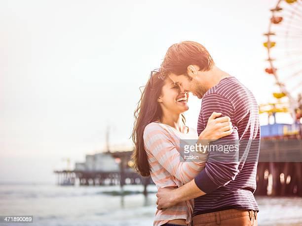 Happy couple on LA beach