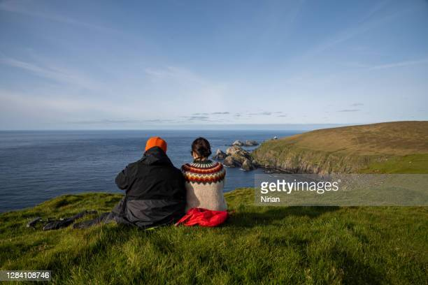 happy couple - scotland stock pictures, royalty-free photos & images