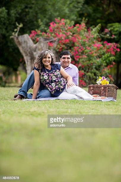 happy couple - mexican picnic stock pictures, royalty-free photos & images