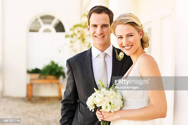 Glückliches Paar stehen zusammen