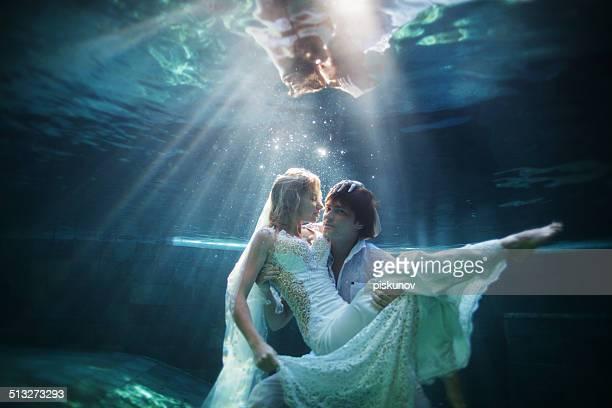 Happy Couple underwater