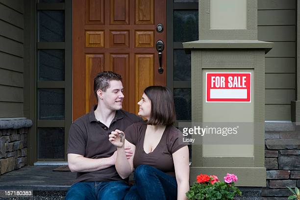 Happy Couple with New House