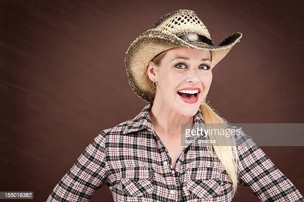 happy cowgirl - blonde female singers stock photos and pictures