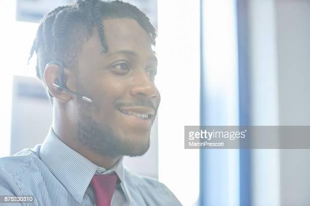 Happy customer calling