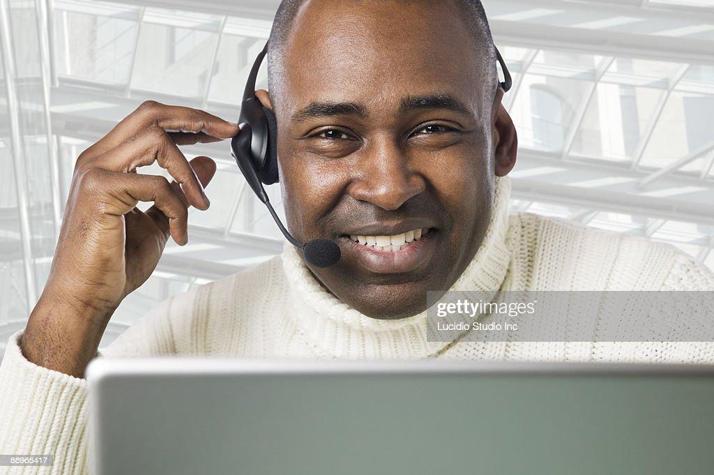 Happy Customer Service Representative Stock Photo