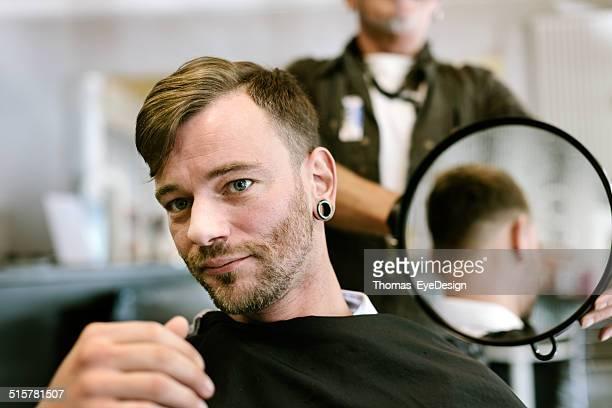 Happy Customer with new Haircut