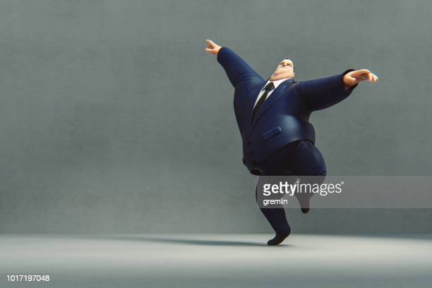 Happy dancing businessman