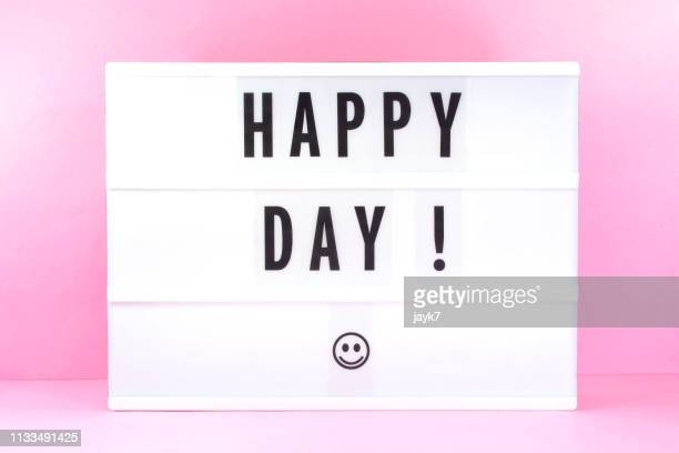 happy day - lightbox stock pictures, royalty-free photos & images