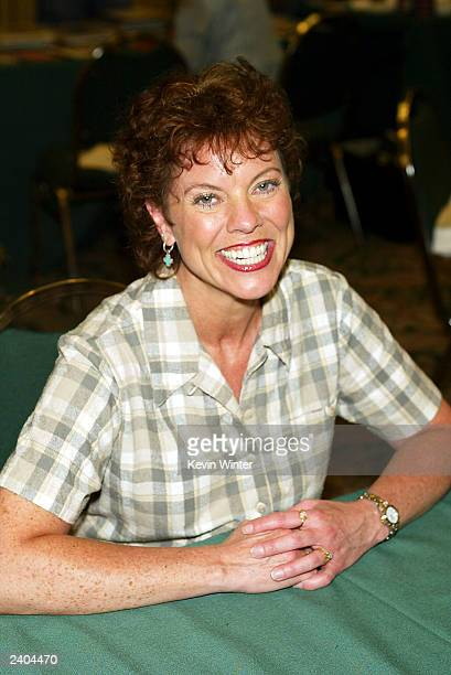 Happy Days Erin Moran appears at the First Official TV Land Convention at the Burbank Airport Hilton on August 16 2003 in Burbank California