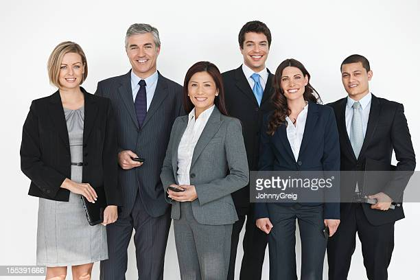 Happy Diverse Business People