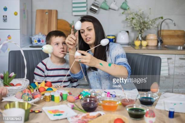 ハッピーイースター - happy easter mom ストックフォトと画像