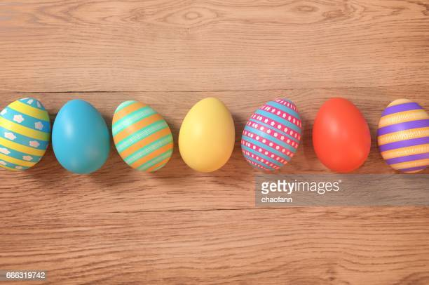 happy easter! - easter egg stock pictures, royalty-free photos & images