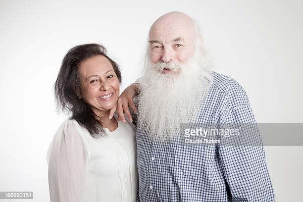 Happy Elderly Couple Smiling