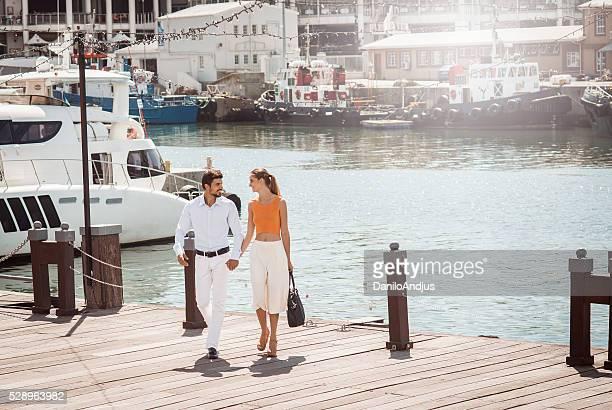 happy elegant young couple