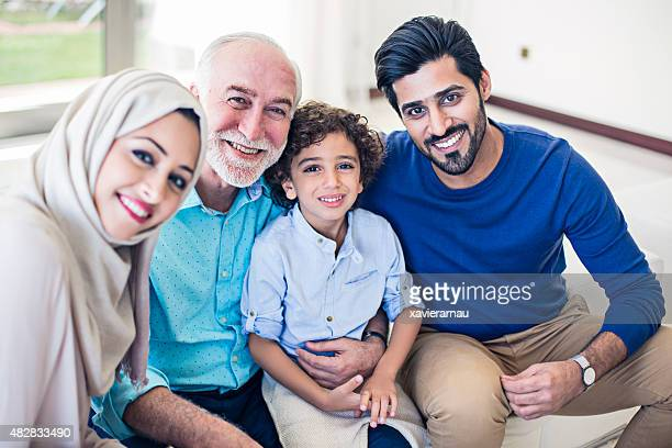 happy emirati family - middle east stock pictures, royalty-free photos & images