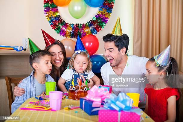 ご家族での幸せな誕生日パーティー