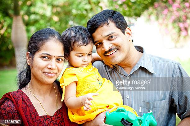 Happy Family Cheerful Young Indian Couple