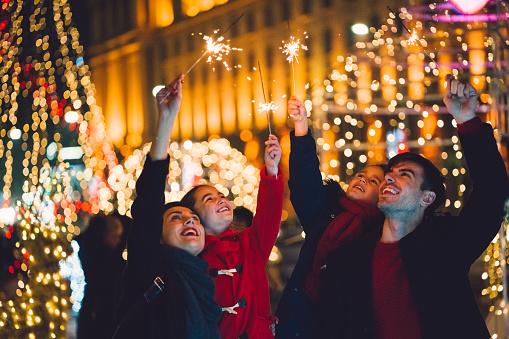 Happy family enjoying Christmas - gettyimageskorea