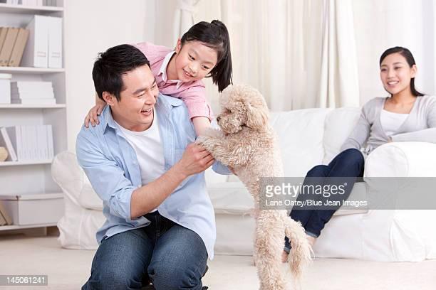 Happy family enjoying fun time