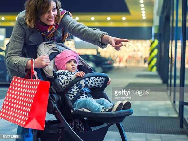 Happy family enjoying shopping
