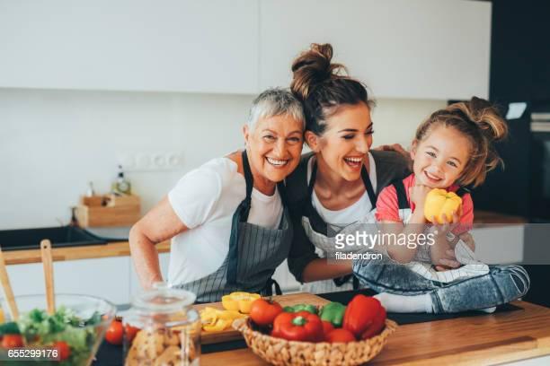 幸せな家族のキッチン