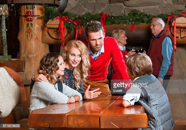 Happy family meeting at Christmas Time