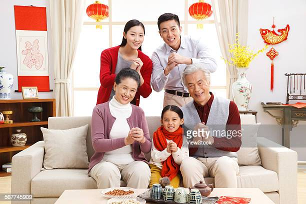 Happy family new year