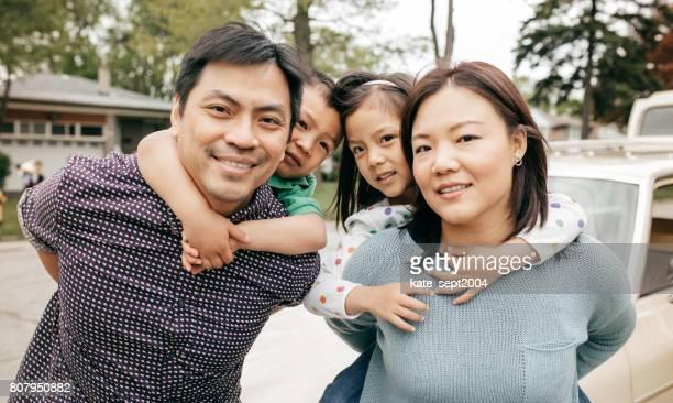 Gelukkig gezin van vier